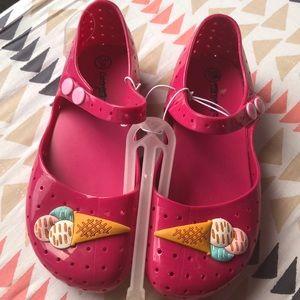 efdcbb014a35 Cat   Jack Pink Jellys Sandals Sz 11 12 Pink NEW